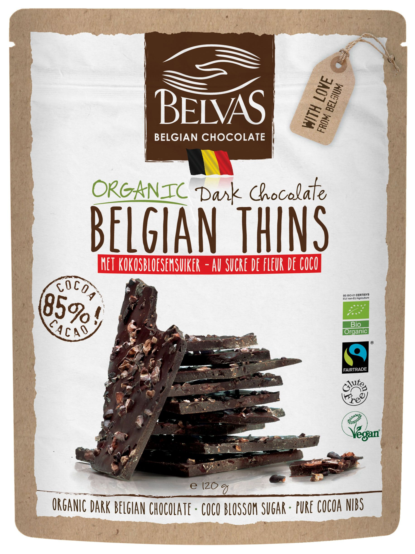 Belvas - Belgian Thins - Chocolat noir - 120 gr
