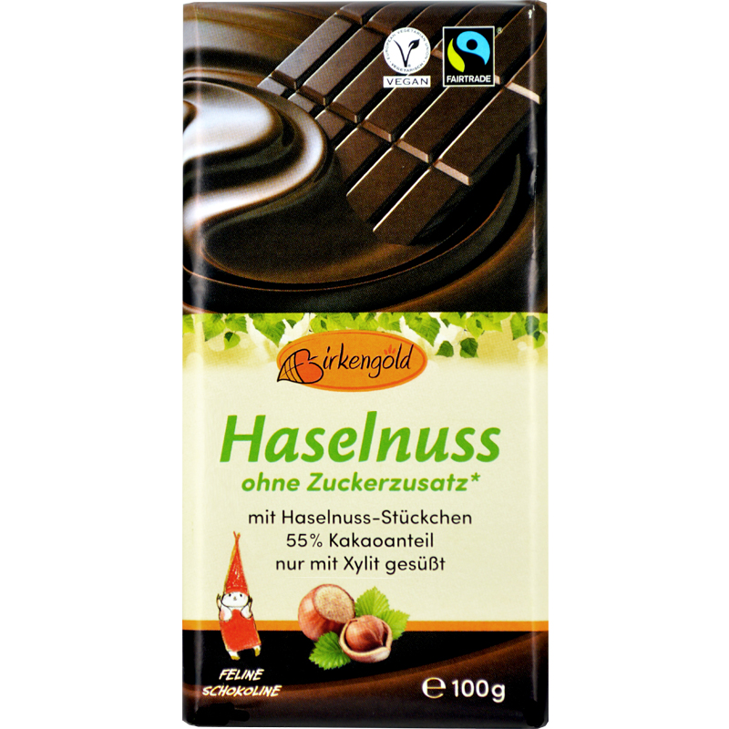 Zartbitter Haselnussschokolade