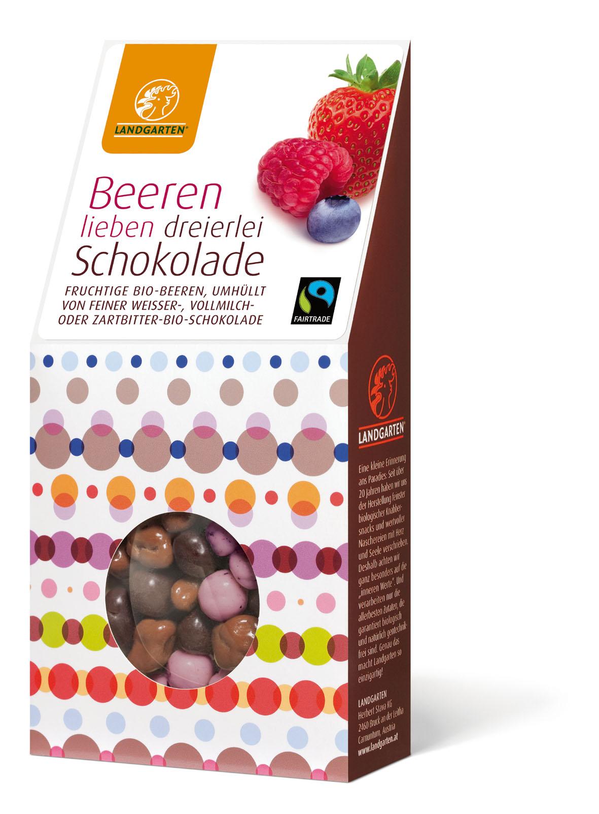 Bio FT Beeren in dreierlei Schokolade 50g