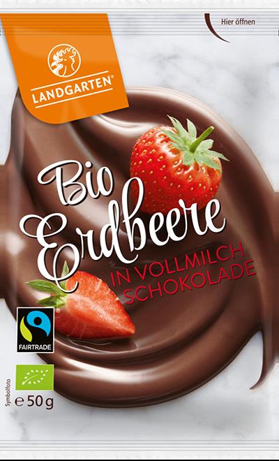 Bio FT Erdbeere Vollmilch 50g