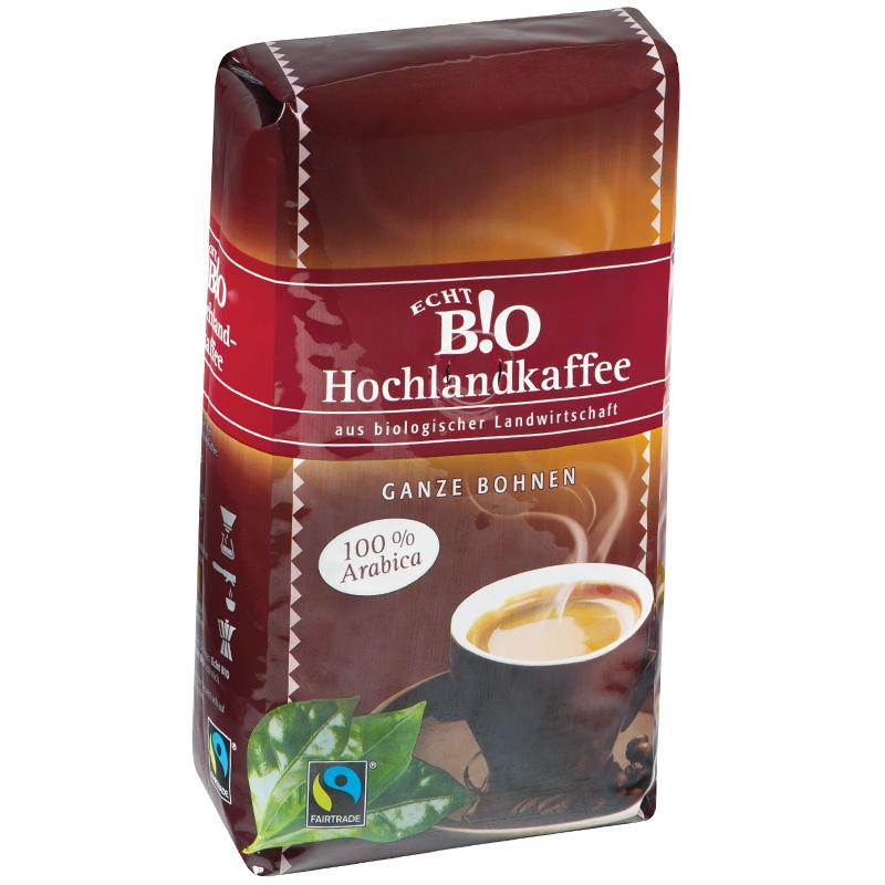 Hochlandkaffee Arabica ganz
