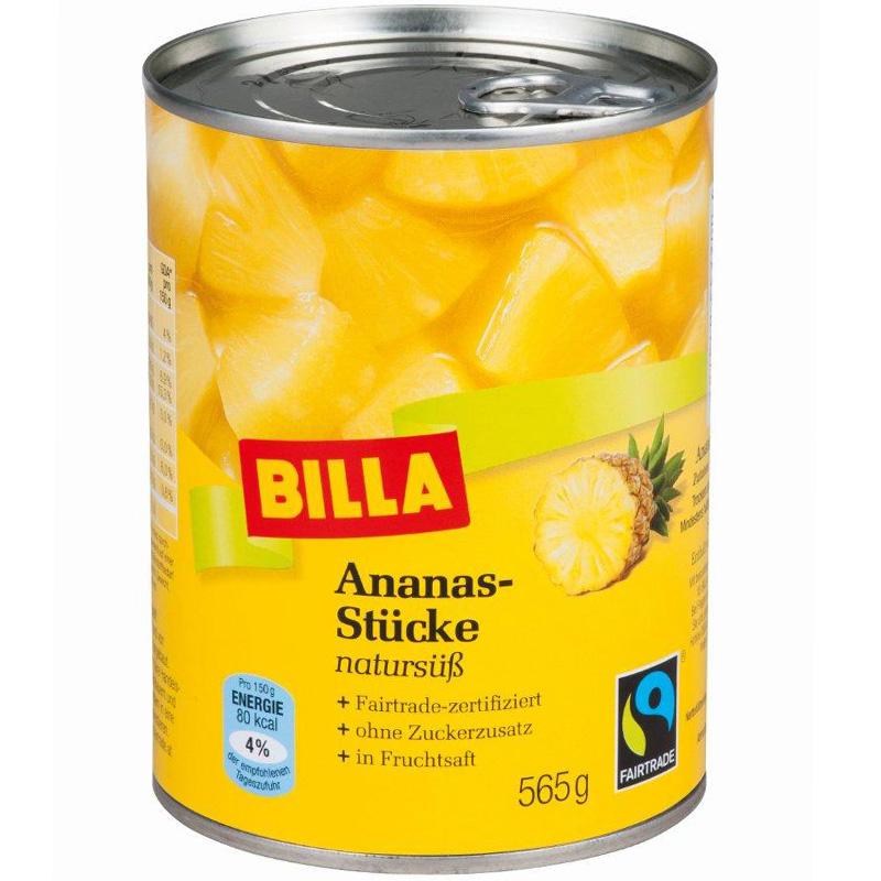 Ananasstücke natursüß