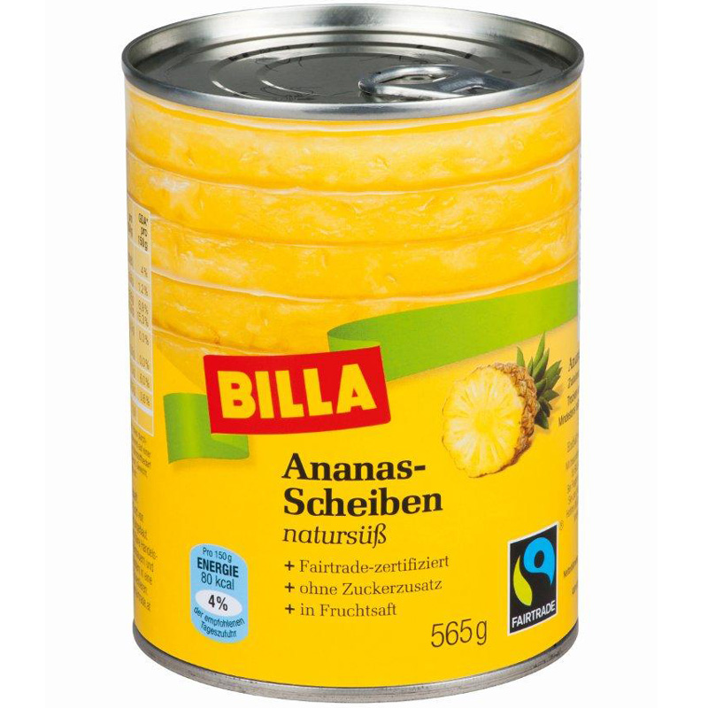 Ananasscheiben natursüß