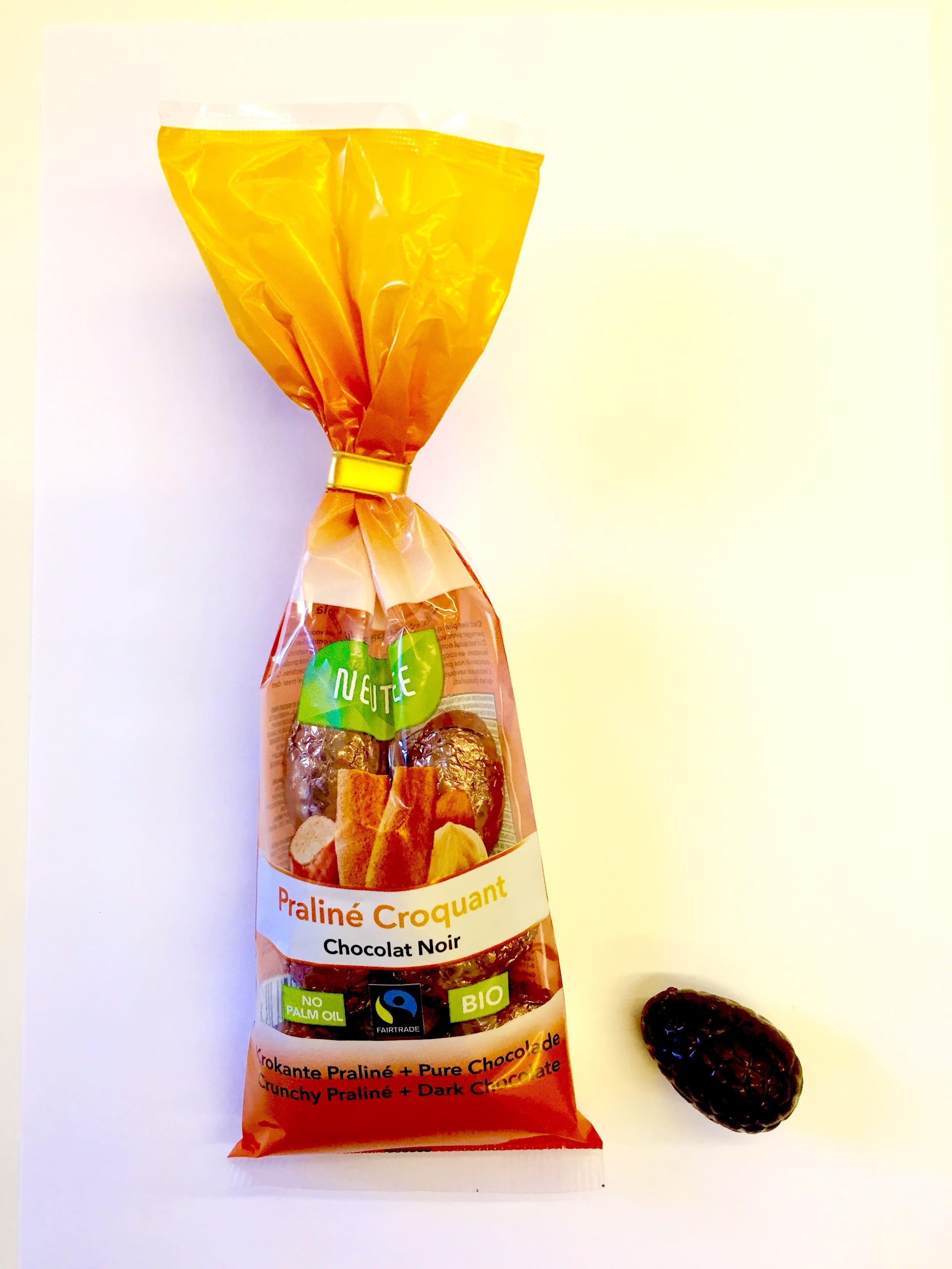 Newtree - Oeufs au chocolat noir praliné croquant - 91 gr