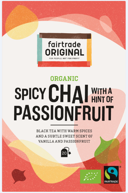 Fair Trade Original Zwarte thee Chai met een hint van vanille en passievrucht