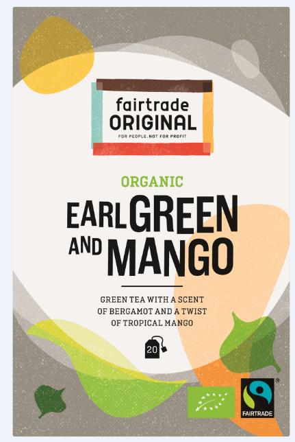 Fair Trade Original Groene thee Earl Green met een twist van tropische mango