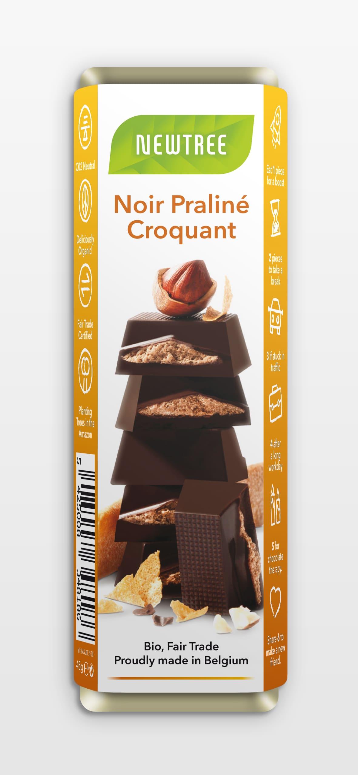 Newtree - Noir Praliné Croquant - 45 gr