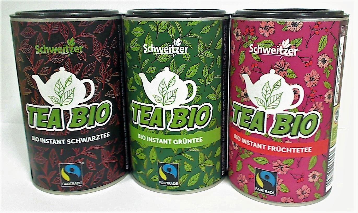 Schwarz Tee-Membrandose