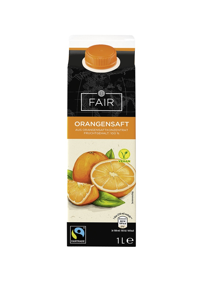 Fairtrade Saft-Nektar, Sorte: Orangensaft