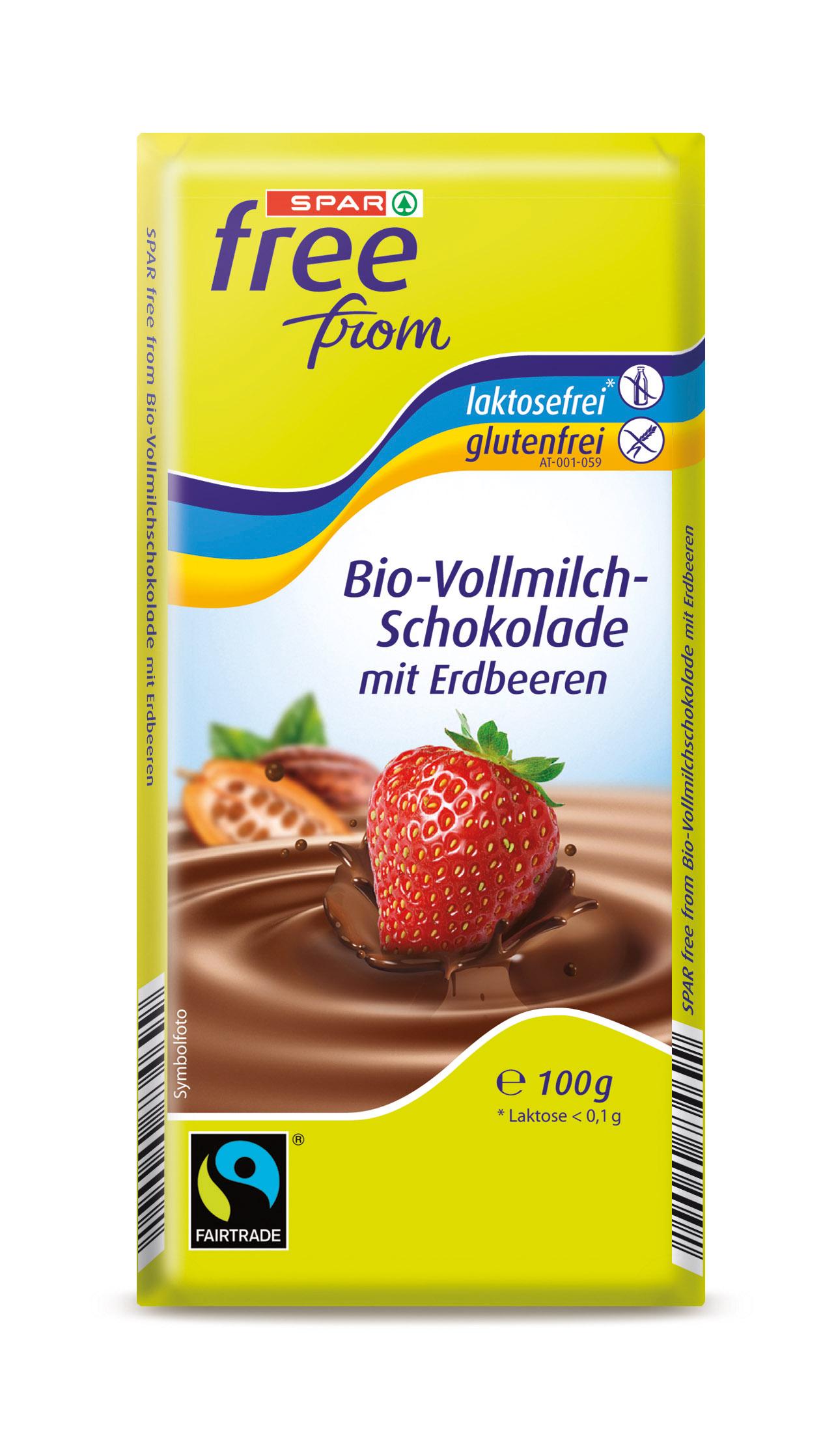 Vollmilch-Schokolade mit Erdbeeren