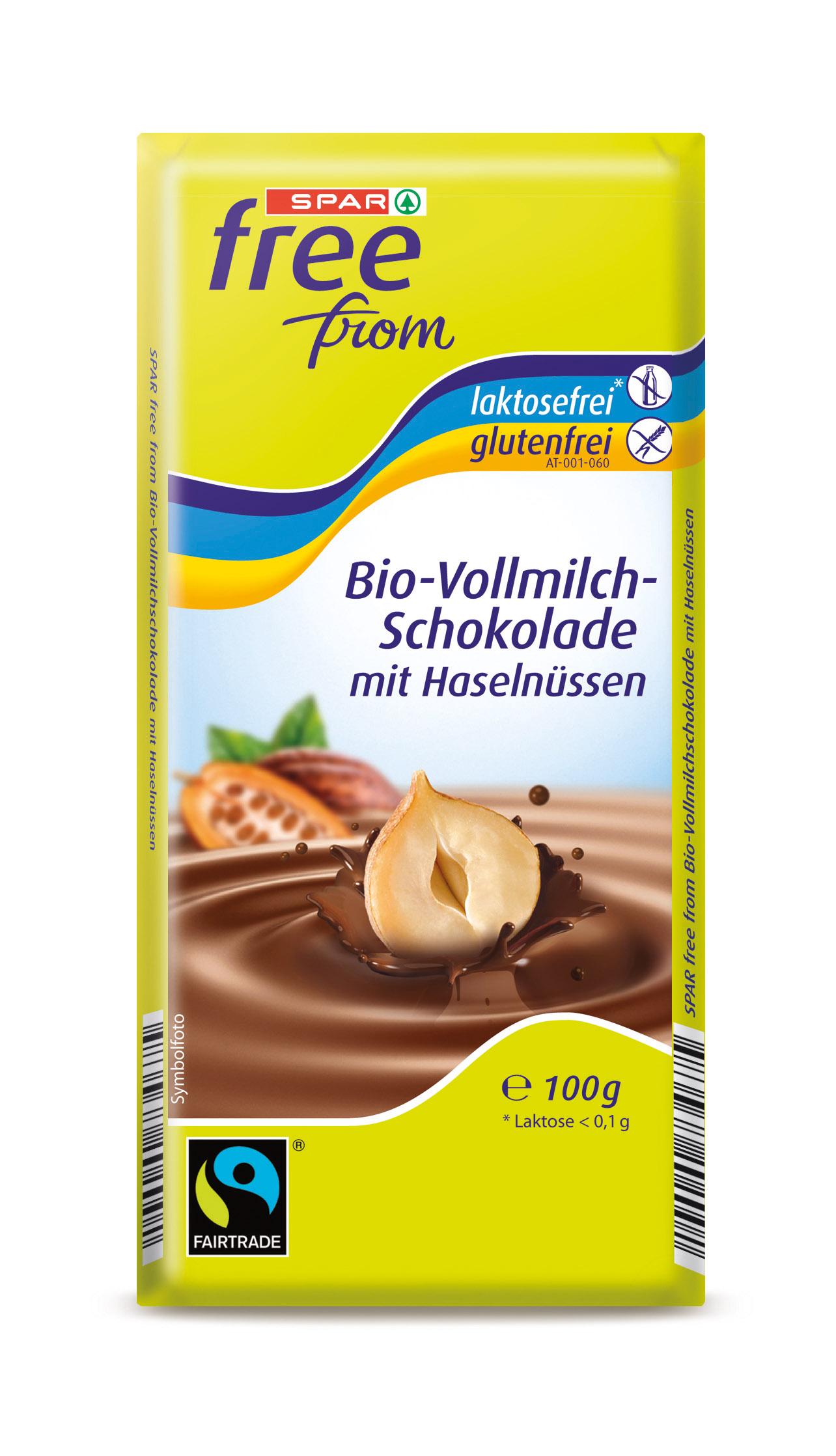 Vollmilch-Schokolade mit Haselnüssen