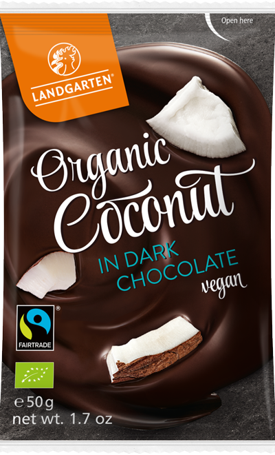 Organic FT Coconut in Dark Chocolate 50g