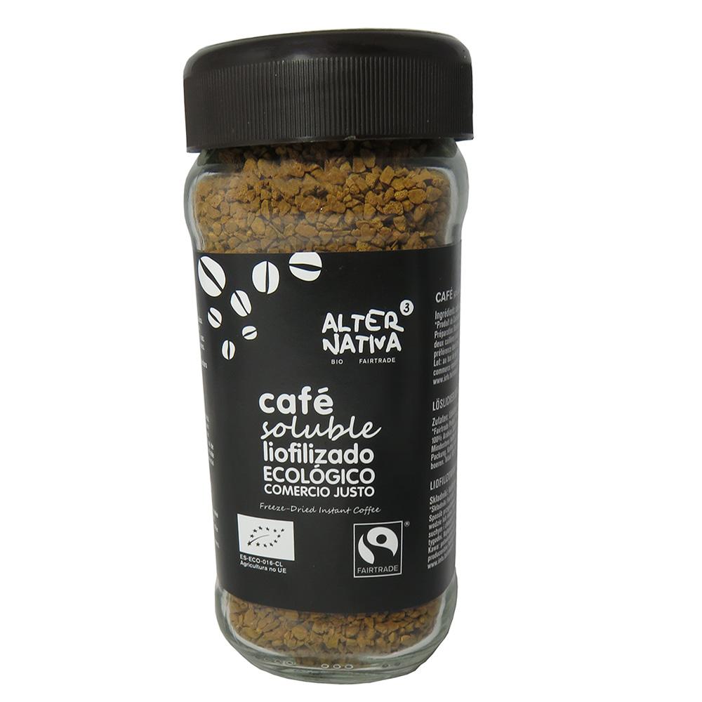 Café soluble Bio 100 gr liofilizado