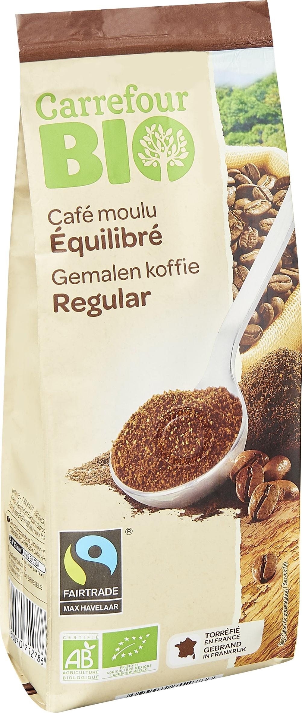 Café moulu équilibré bio 250g