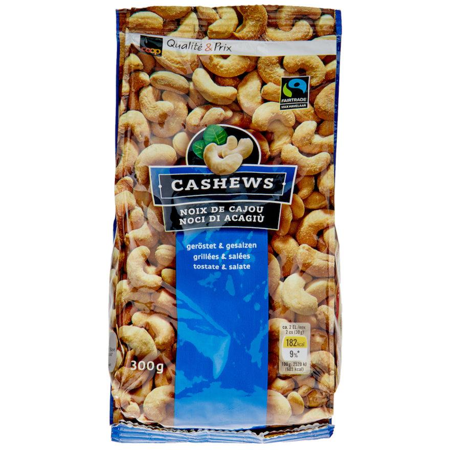 Cashews, geröstet und gesalzen