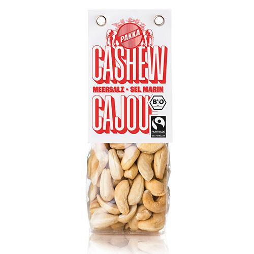 Cashew geröstet, Meersalz