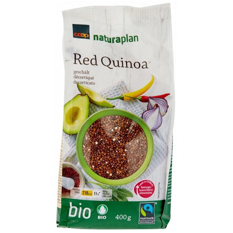 Quinoa rot, geschält