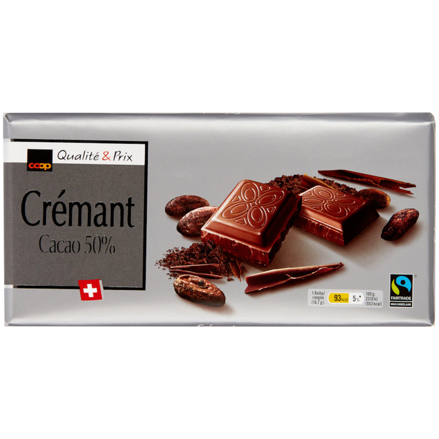 Tafelschokolade Crémant (10x100g)