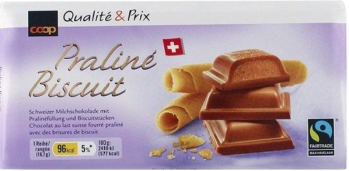 Tafelschokolade Praliné Biscuit