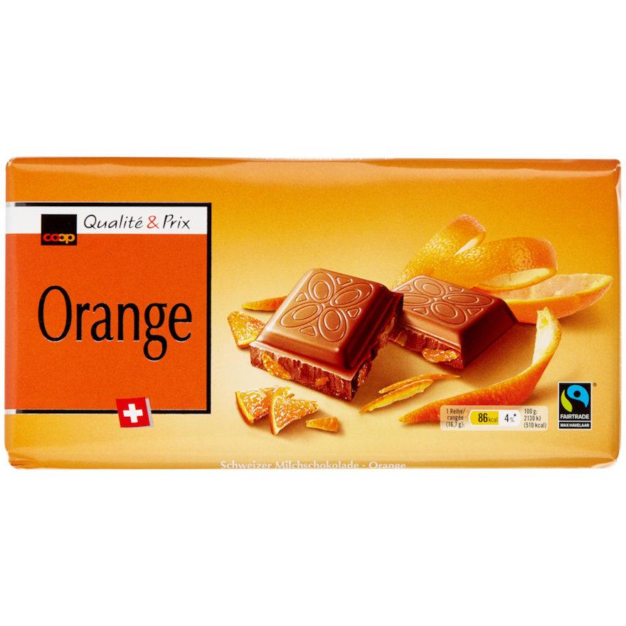 Tafelschokolade Orange (5x100g)