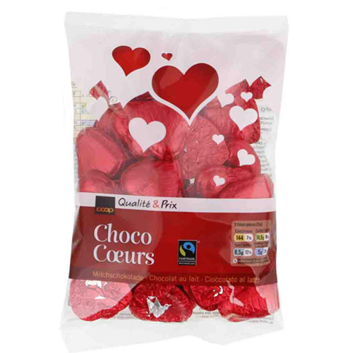 Choco Coeurs, Milchschokolade