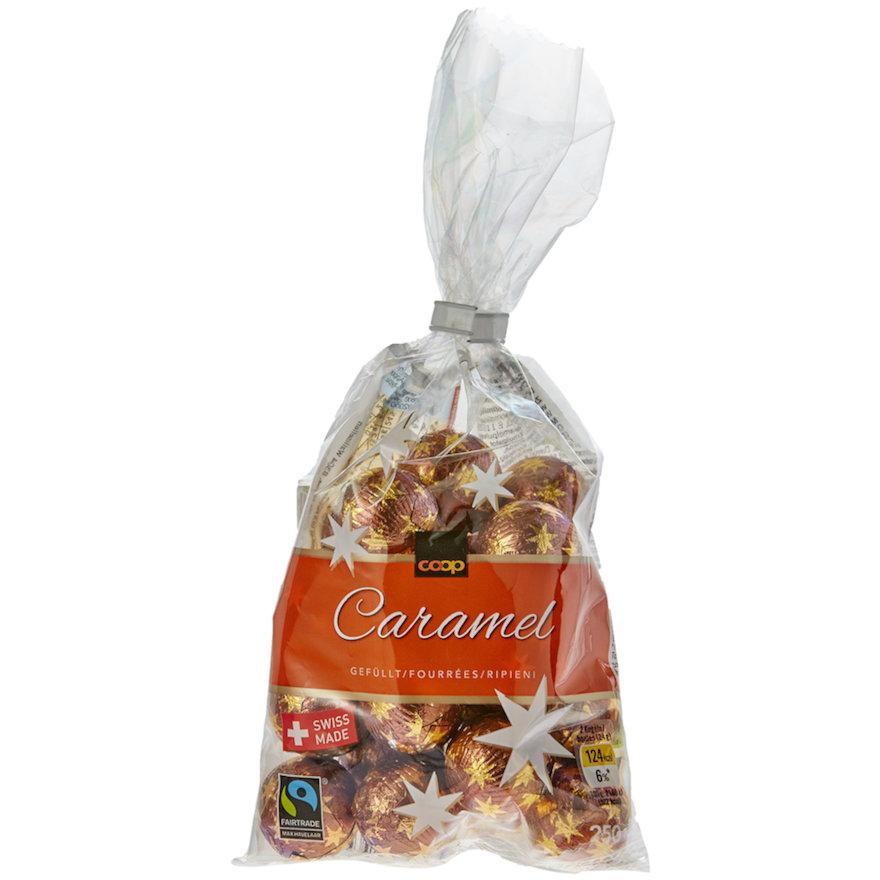 Schokoladen-Kugeln Caramel, gefüllt