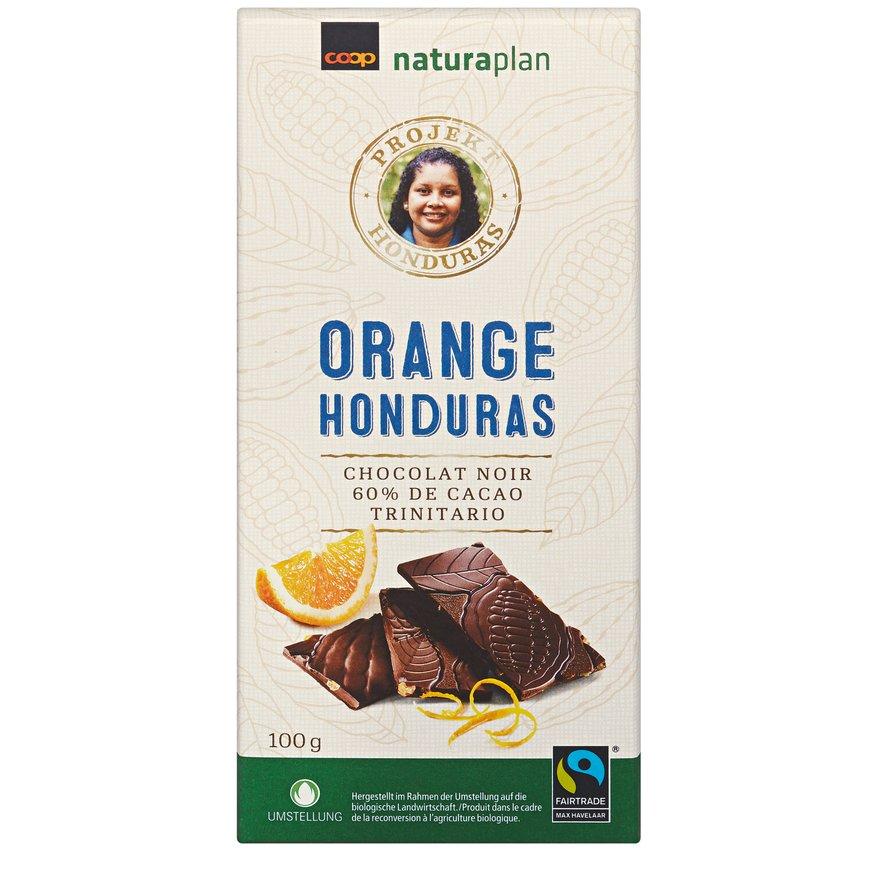 Tafelschokolade Honduras 60 Prozent Orange