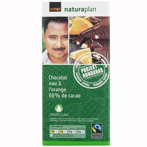 Tafelschokolade Noir à l'orange