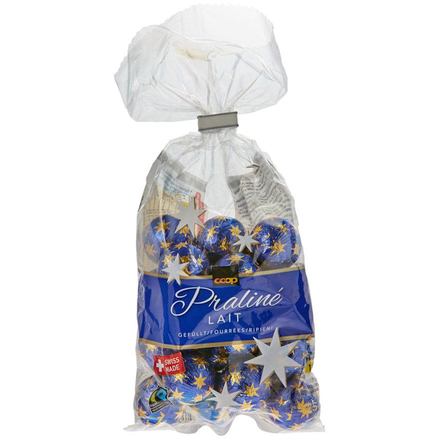 Schokoladen-Kugeln Praliné Lait, gefüllt