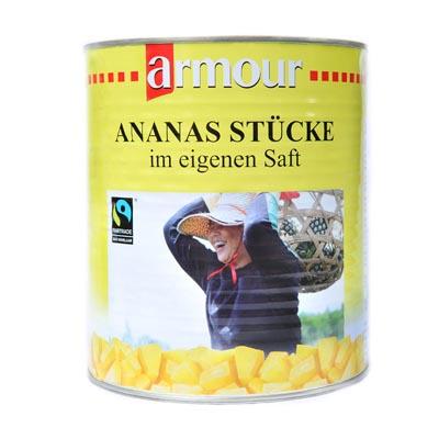 Ananas, Stücke
