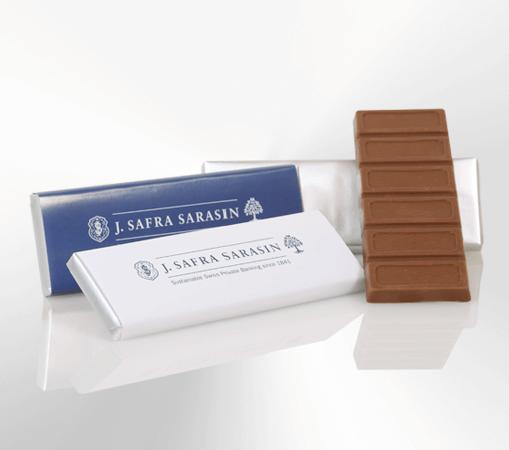 Werbeschokolade Tafel, Vollmilch