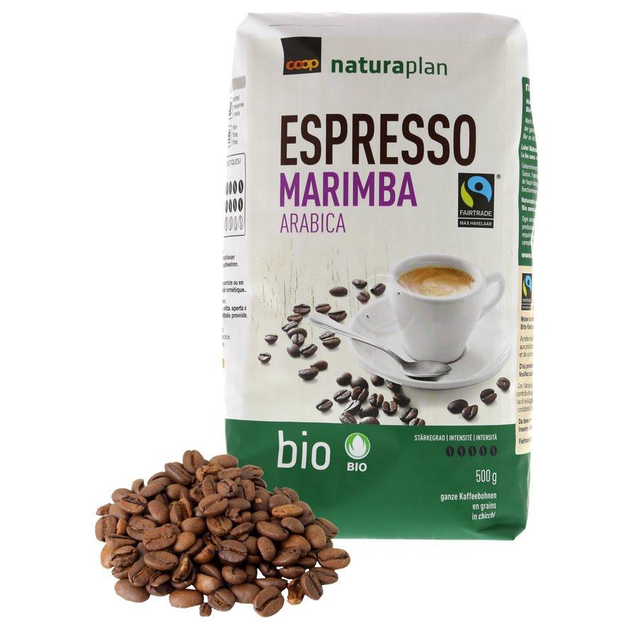 Espresso Marimba Arabica, ganze Bohnen