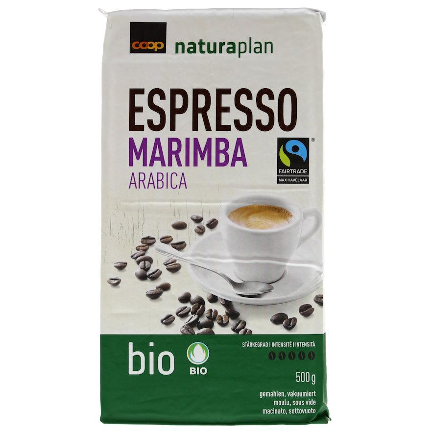 Espresso Marimba Arabica, gemahlen