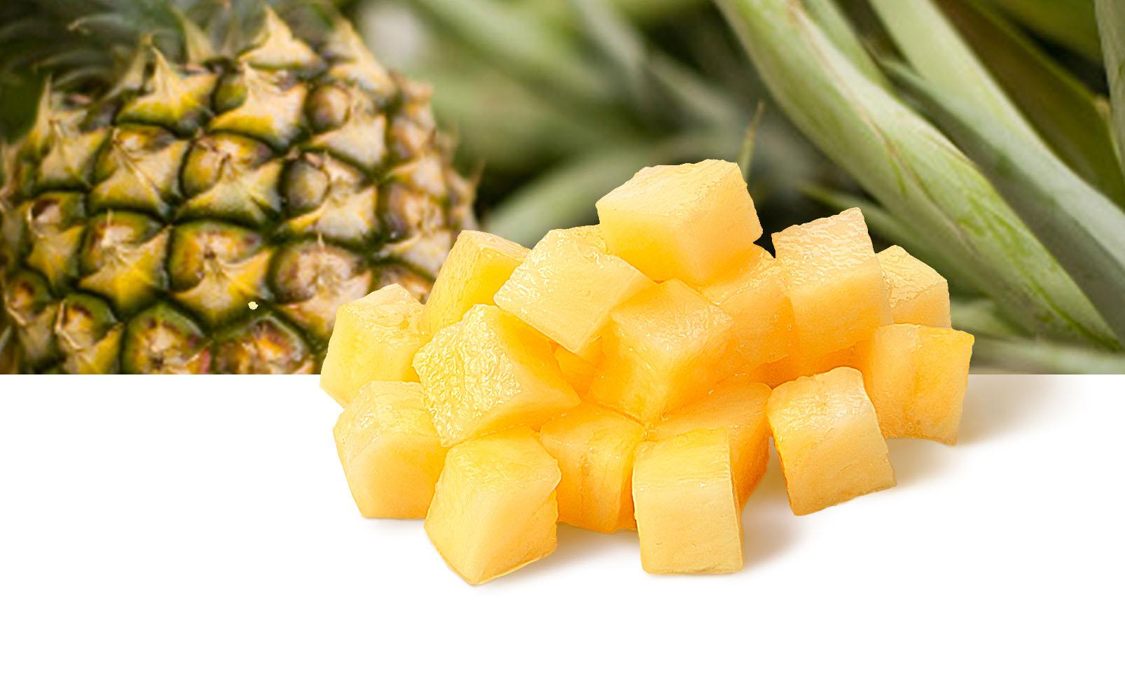 Ananas Würfel, 10x10 mm
