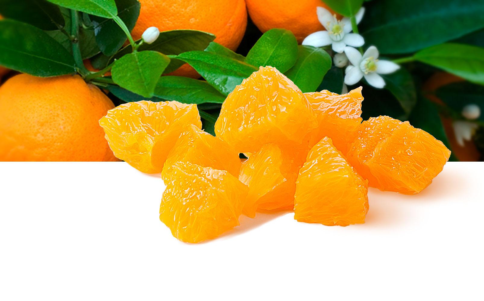 Orangen Würfel, 10x15mm
