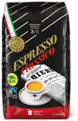 Espresso Classico, gemahlen