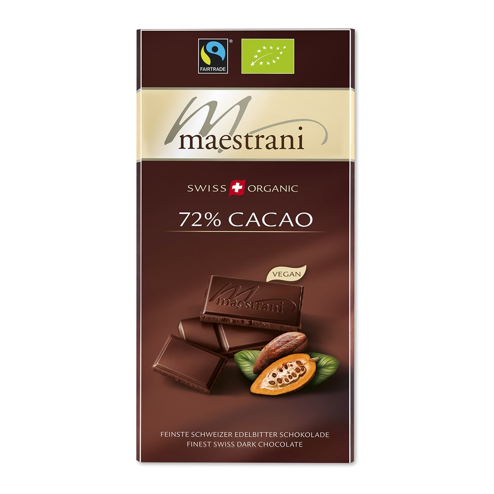 Tafelschokolade 72 Prozent Cacao (16x80g)