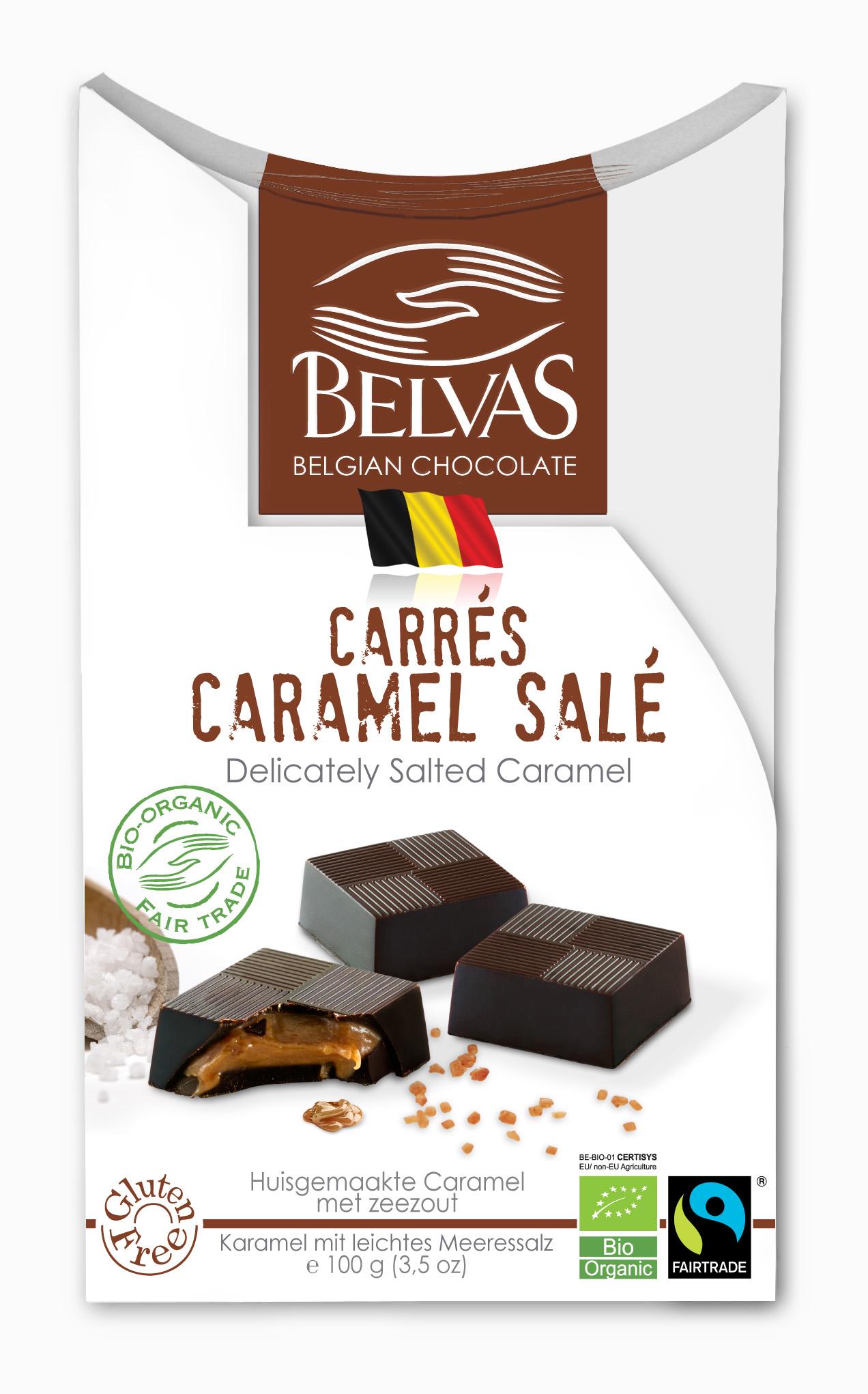 Belvas – Carrés caramel – 100 gr