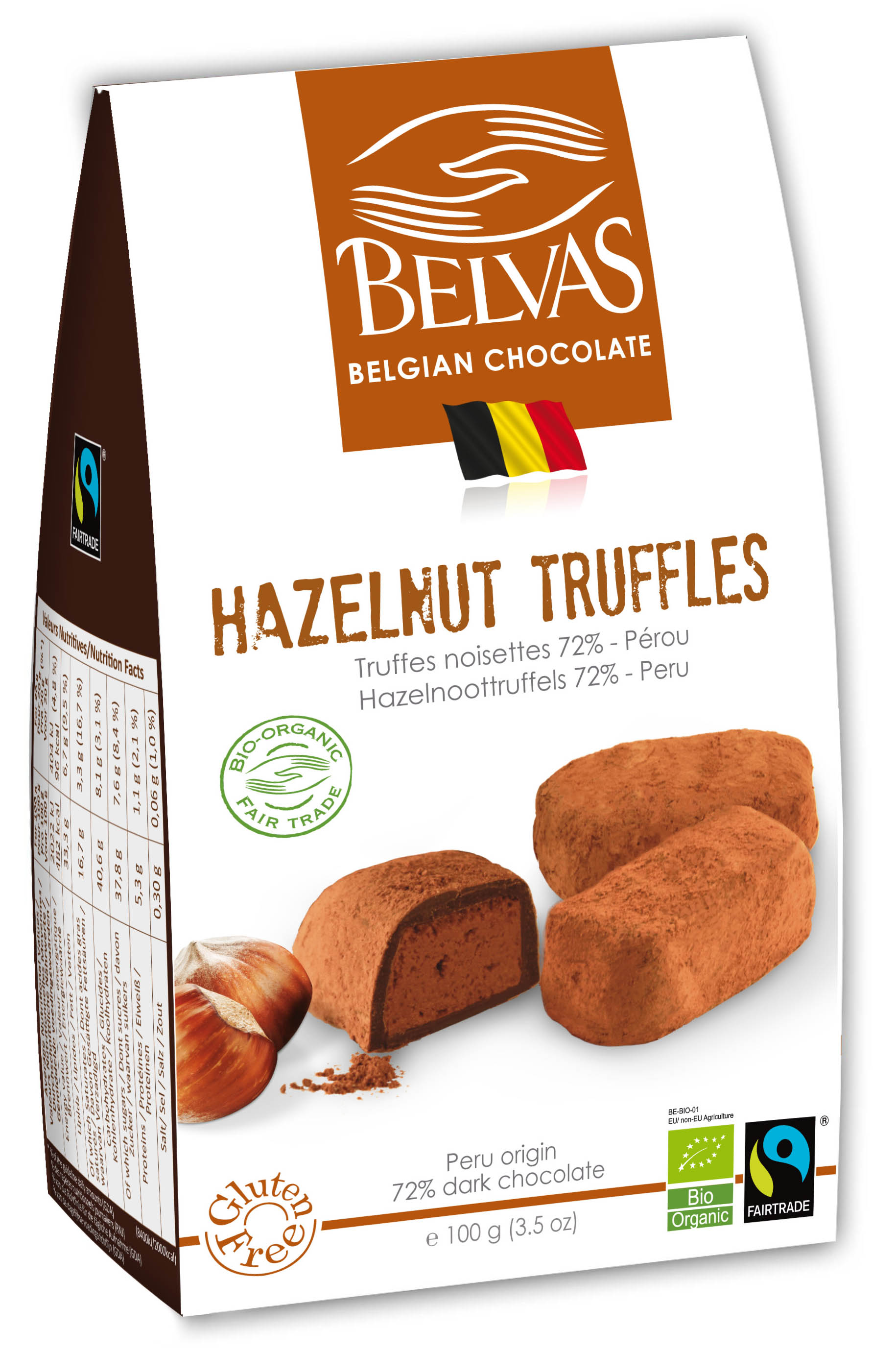 Belvas – Truffes noisettes – 100 gr