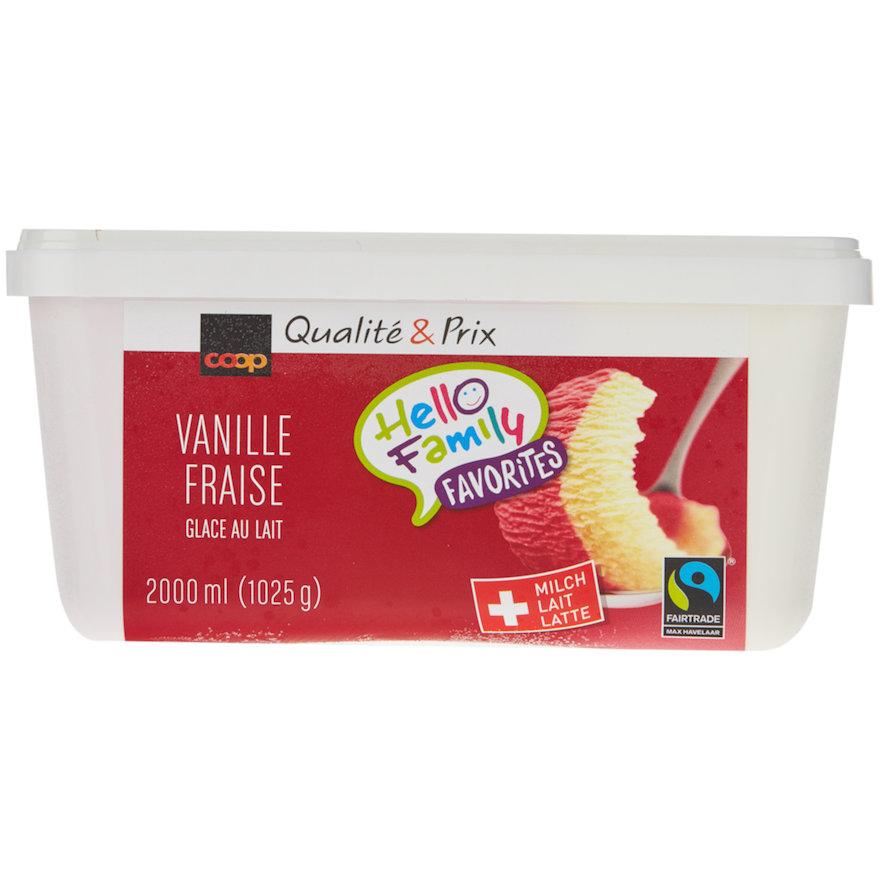 Vanille-Erdbeer Milchglace
