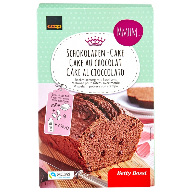 Backmischung für Schokoladen-Cake