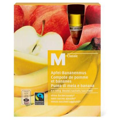 Apfel-Bananenmus
