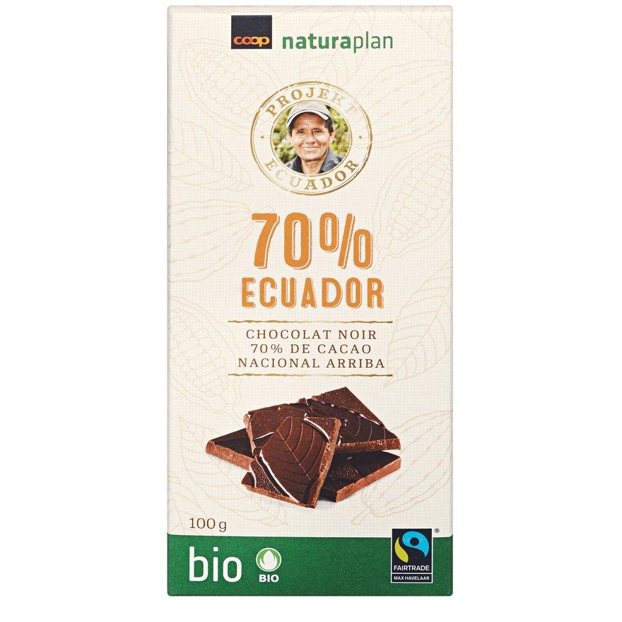 Tafelschokolade Ecuador 70 Prozent