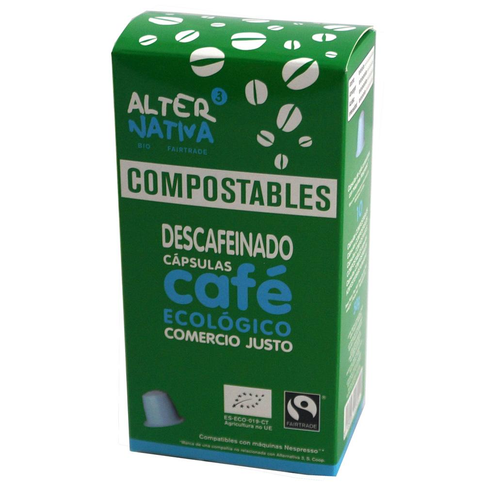 Cápsulas de cafè compostables DESCAFEINADO