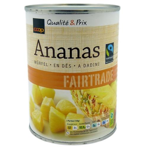 Ananas, Würfel