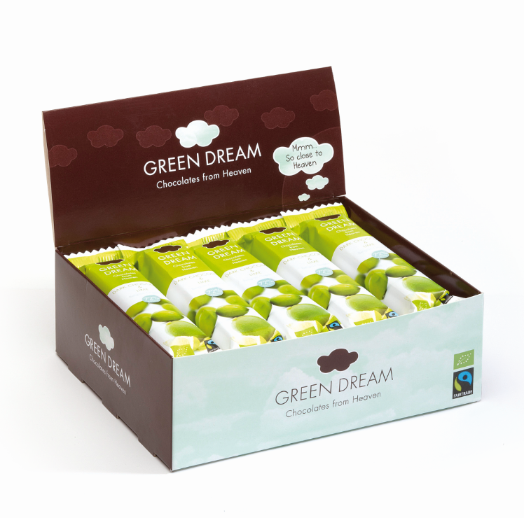 Green Dream – Chocolat noir et citron vert – 600 gr