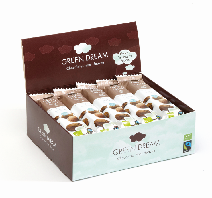 Green Dream – Chocolat au lait et noix de coco – 600 gr