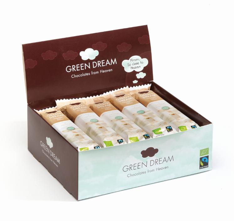 Green Dream - Chocolat au lait et nougat - 600 gr