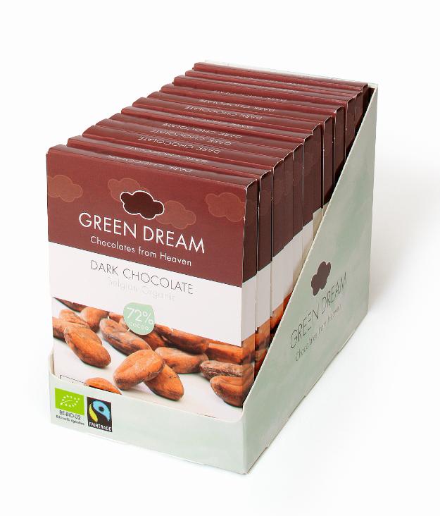 Green Dream - Chocolat noir - 55 gr