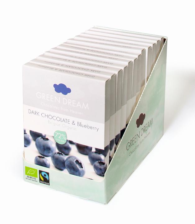 Green Dream - Chocolat noir et myrtille - 55 gr